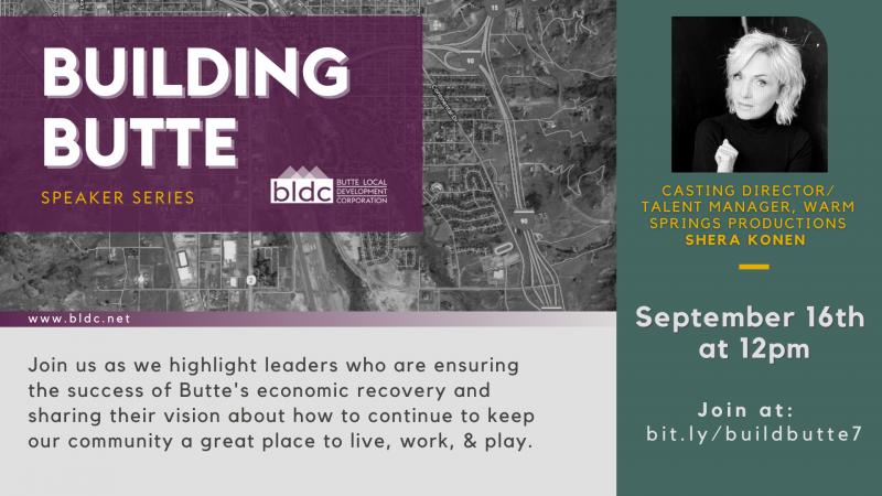 Building Butte Speaker Series:  Shera Konen