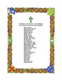 Ancient Order of Hibernians (AOH) Memorial Mass