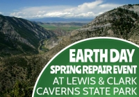 Earth Day Spring Repair Event at Lewis & Clark Caverns