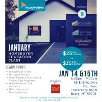 January Homebuyers Education Class