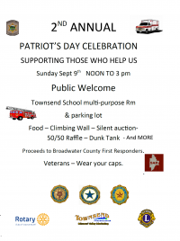 2nd Annual Townsend Patriot's Day Celebration