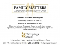 Dementia Education for Caregivers