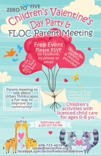 Children's Valentine's Day Party & FLOC Parent Meeting