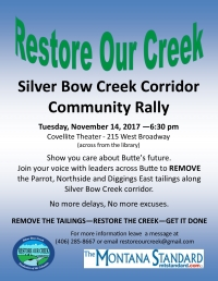 Restore Our Creek Community Rally