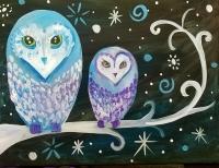 Snow Owls, Paint Party!