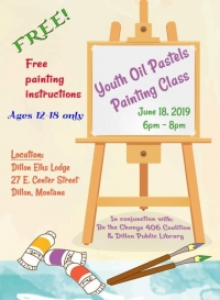 Youth Oil Pastels Painting Class