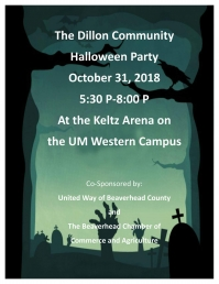 Dillon Community Halloween Party