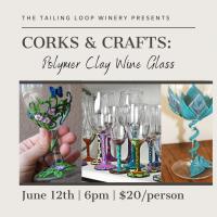 Corks & Crafts: Polymer Clay Wine Glass