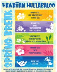 Spring Break Camp- Hawaiian Hullabaloo