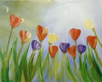 Tulips and Sunshine - Painting at Kalispell Senior Ctr