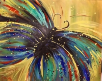 Butterfly paint party at Kalispell Brewing Co!