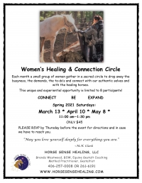 April Women's Connection Circle with Horses