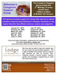 Alzheimer Caregiver's Support Group