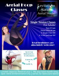 Aerial Hoop Fitness Classes for Total Beginners