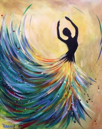 Spring Dancer, Tipsy Brush Painting Party