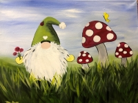 Spring Gnome, Tipsy Brush Painting Party
