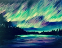 Northern Lights, Tipsy Brush Painting Party