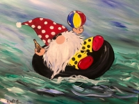 Floating Gnome, Tipsy Brush Painting Party