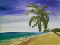 Palm Paradise, Tipsy Brush Painting Party