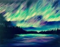 Northern Lights Painting at Bigfork Community Center!