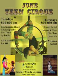 Cirque for Teens: Aerial Hammock Dance