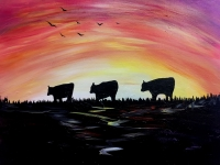 Cows Coming Home Painting Party, Tipsy Brush in CFalls