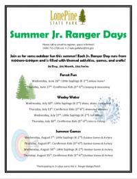 Jr. Ranger Day (3rd-6th Grades)