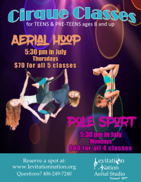 Pole Sport Cirque Fitness Classes for Teens/Pre-Teens