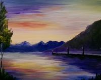 Sunset on the Lake, Painting Party, Tipsy Brush Studio