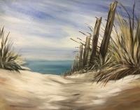 Beach Grasses, Painting Party, Tipsy Brush Studio!