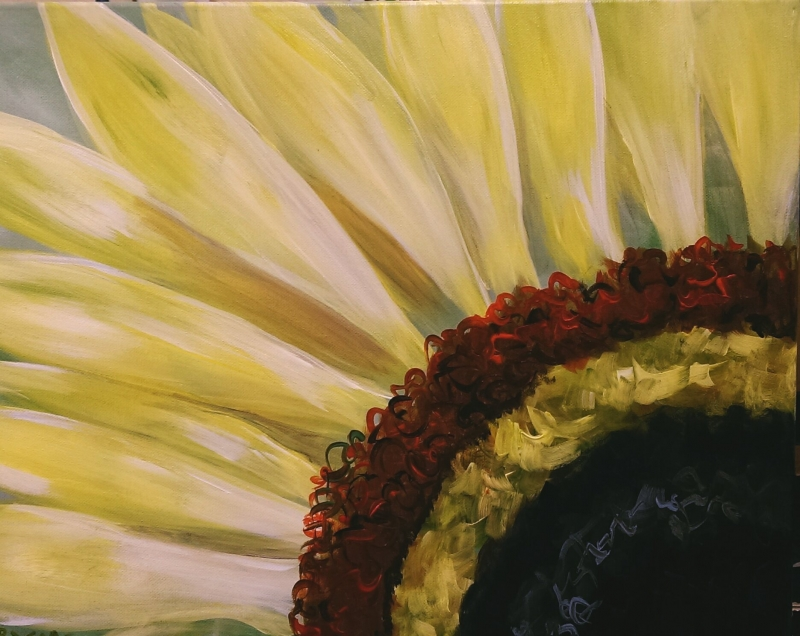 Sunflower, Tipsy Brush Painting Party!