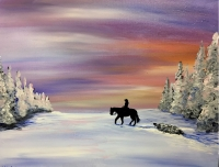 Winter Tow Tipsy Brush Painting Party, Kalispell