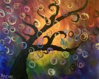Swirly Tree - Tipsy Brush painting party!