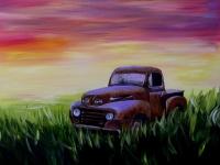 Rusty Truck, Tipsy Brush Painting Party, Kalispell
