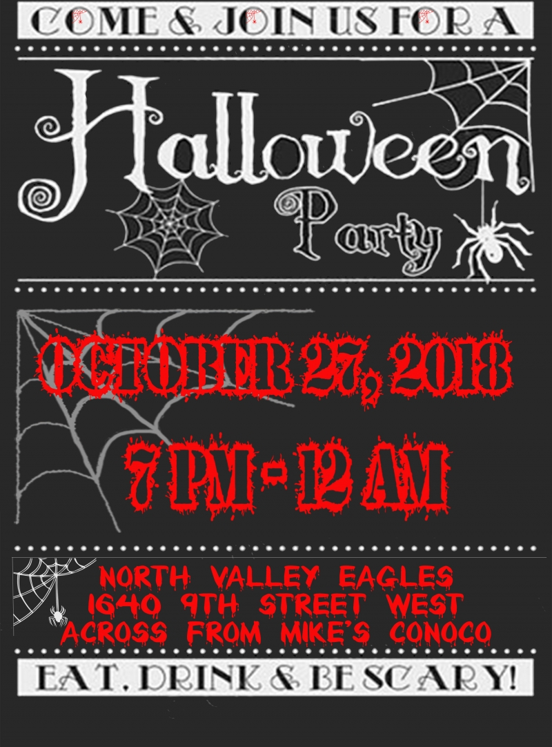 adult halloween party 10/27/2018 columbia falls, montana, north