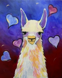 Llama Love - Tipsy Brush at Indah Sushi, WF