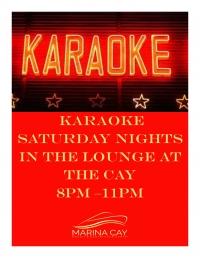 Karaoke Night In The Lounge @ Marina Cay