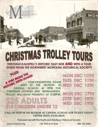 Christmas Trolley Tours of Kalispell's  East Side