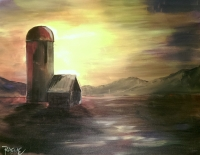 Silo Sunset - Tipsy Brush Painting Party, Kalispell