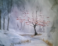 Mountain Ash, Tipsy Brush painting in CFalls!