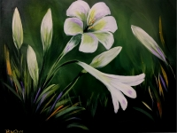 Easter Lilies - Tipsy Brush Painting Party, Kalispell