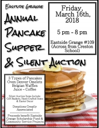 Annual Pancake Supper & Silent Auction