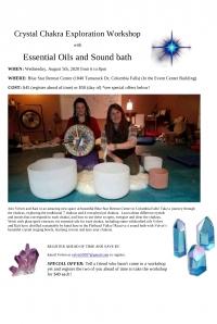 Crystal Chakra Workshop w/Essential Oils & Soundbath