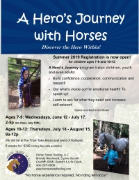 A Hero's Journey with Horses for children 7-9