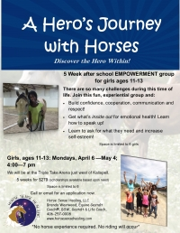 A Hero's Journey with Horses for Girls, 11-13