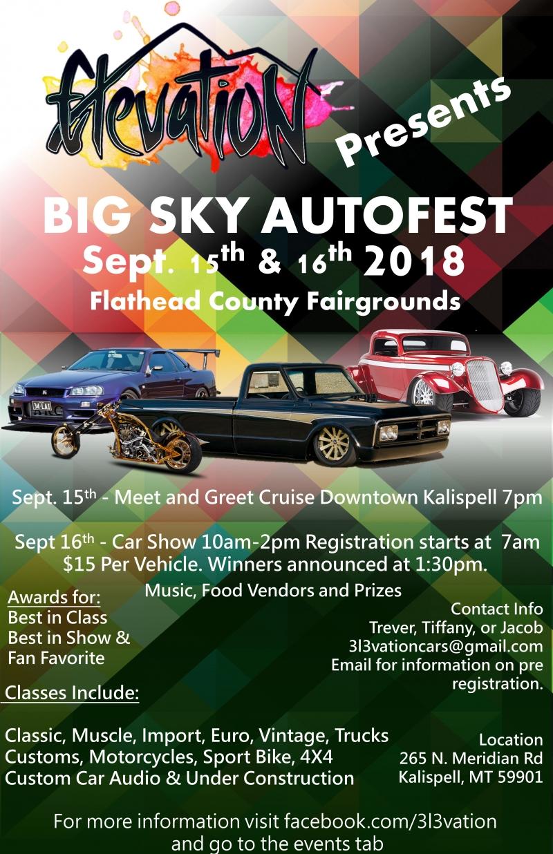 Big Sky Autofest 09 16 2018 Kalispell Montana Flathead County