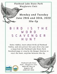 Bird is the Word Scavenger Hunt
