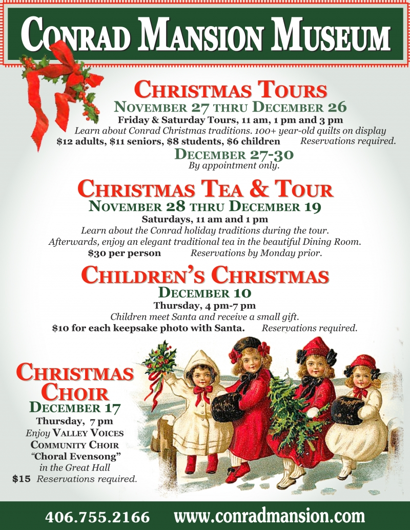 Christmas Events at the Conrad Mansion Museum 11/27/2015 Kalispell ...