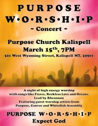 Worship Concert at Purpose Church Kalispell
