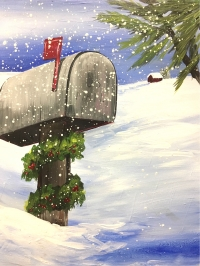 Holiday Post, Tipsy Brush Painting Party, Kalispell!